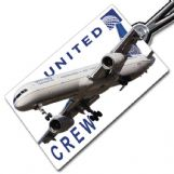 United Airlines Boeing 757-300 Crew Tag